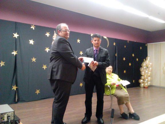 Entrega del premio literario