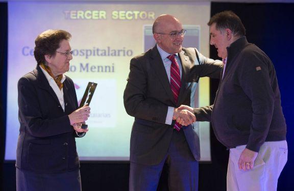 Foto de la recogida del Premio