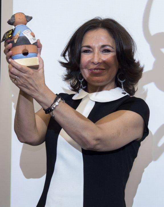 Isabel Gemio en la entrega del premio